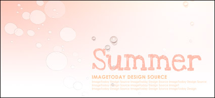 Summer Korean style background material layered psd-2